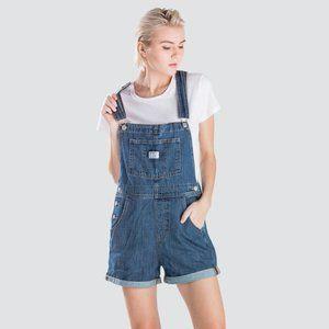 New Levi's Vintage Blue Denim Shortalls - M